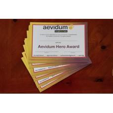 10 Aevidum Hero Certificates